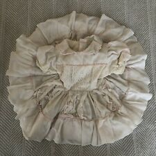 VINTAGE Martha's Miniatures Dress We're Fussy T2 White Pink Lace Ruffles Circle