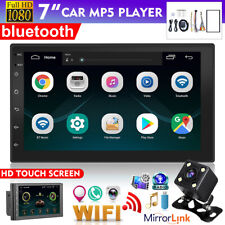 "7"" Android 8.1 2 DIN Car Radio Stereo bluetooth GPS MP5 Player FM + Rear Camera"