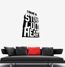 Wall Decal Words Inscription Stone Phrase Heart Vinyl Sticker (ed1282)