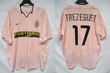 Maillot JUVENTUS TURIN away 2003 2004 TREZEGUET NIKE shirt maglia jersey rose L