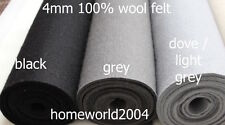 3-4mm thick 100% WOOL FELT FABRIC