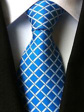 (NT025) Men With Tie Blue Men Necktie Silk Blend Office Party Formal Man Tie