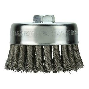 """4"""" Knot Wire Cup Brush - Carbon Steel"""