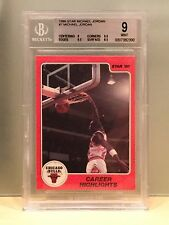 Michael Jordan Rookie 1986 Star #7 BGS 9 w/2 9.5 Mint RC Career Highlights Bulls