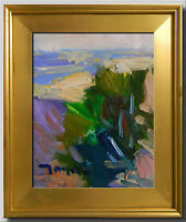JOSE TRUJILLO - FRAMED IMPRESSIONISM PLEIN AIR OIL PAINTING DESERT HILLSIDE 8x10