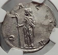 TRAJAN DECIUS 249AD Rome DACIA Ancient Silver Roman NGC Certified MS Coin i58205
