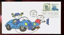 #1906 1981 17c Electric Auto Coil FDC Kover Kids Hand Colored Cachet UA FD1838