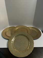 Plate Chargers Gold Set Of 4