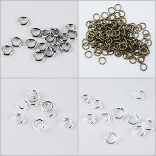 Bindering Biegering offen rund Metall silber platin 6 8 mm 100 200