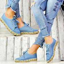 Neu LuXus Damen Espadrilles Slipper Damenschuhe Jeans Optik Party Sandalen