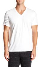 Calvin Klein 1240 Mens White Cotton V-Neck T-Shirt 3 Pack Size Small