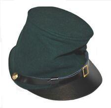 Civil War Union Berdans Sharpshooters Forage Kepi Green Forage Leather Peak kepi