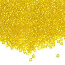 SBX1452 Yellow Crystal Luster 6/0 (4mm) Transparent Glass Seed 16oz (4160 Beads)