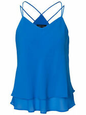 *NEW* NEW LOOK LADIES COBALT BLUE SUMMER DOUBLE STRAP LAYERED CAMI VEST TOP 8-18