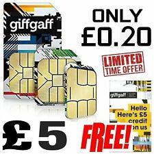 Giffgaff Giff Gaff SIM Card for Tracker, Smart watch, GSM, 2G, Pet, Elderly New