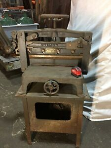 Pavyer Printing Paper Cutting Press Vintage Industiral Steampunk Heavy Cast Iron