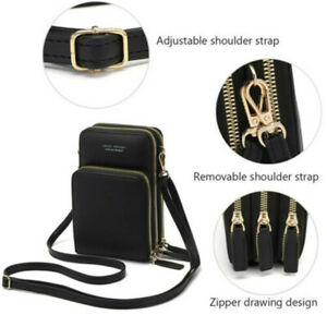 Crossbody Shoulder Bag Touch Screen Phone Wallet Leather Pouch Purse Outdoor Bag