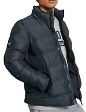 Superdry Ultimate Padded Quilt Jacket Warm Winter Puffer Coat Charcoal Grey