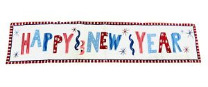Pottery Barn Kids Happy New Years Banner New Open Package Holiday Celebration
