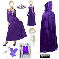 Frozen 2 pz Elsa Vestito Viola Costume Carnevale Donna Bambina Cosplay FROZ012