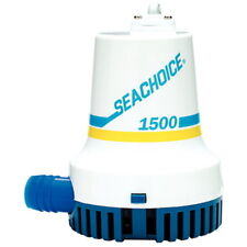 """1,500 GPH Electric Submersible Bilge Pump for Boats with 1-1/8"""" Hose Outlet"""