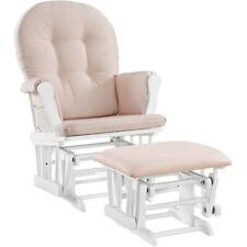 Glider Chair And Ottoman Nursery Rocking Furniture Baby Rocker Seat Pink