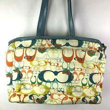 Coach Signature Optic Butterfly Diaper Bag tote A1149-F17437