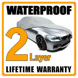 2 Layer Car Cover Breathable Waterproof Layers Outdoor Indoor Fleece Lining Fin