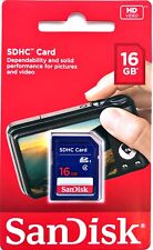 16GB Sandisk SDHC Memory Card - High Speed SD Card