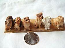 6 Miniature Dollhouse Puppies Dog Figurine Plastic Toy