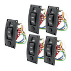 5xMarine Boat Bilge Pump Switch Panel Deck Cleaning Control Panel with Alarm photo