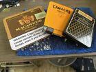 Empty+Cigar+Tin%2FMetal+Box+Lot+3+Asstd.+Metal+Hinge+Small+Craft+Sewing+Supplies