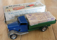 TRIANG MINIC 25M TINPLATE DELIVERY LORRY & CASES 1950's BOXED RARE  B