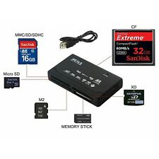 All in One Memory Card Reader ffoUSB External SD SDHC Mini Micro M2 MMC XD CF MS