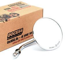 Custom Spiegel rund 4 Zoll (10 cm) chrom mit E-Zulassung, für Harley-Davidson®