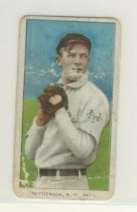 Christy Mathewson 1909 T206 Polar Bear Dark Cap RARE Low Grade ICONIC CARD!