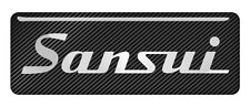 "Sansui 2.75""x1"" Chrome Domed Case Badge / Sticker Logo"