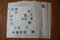 A42 Lot of Czechoslovakia Stamps on Minkus binder Pages