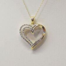 DIAMOND HEART PENDANT IN 10K GOLD
