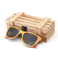 Vintage Sunglasses Case Bamboo Wood Box for Sunglasses Eyewear Glasses