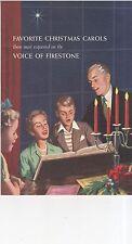 Vintage 1955 Firestone Favorite Christmas Carols Booklet