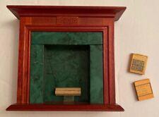 Dollhouse Fireplace W/ Firewood Wooden Living Room Miniature Furniture + 2 Books