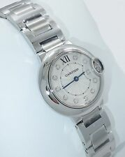 Cartier Ballon Bleu WE902073 28mm Ladies Diamond Dial SS Box & Papers *BRAND NEW