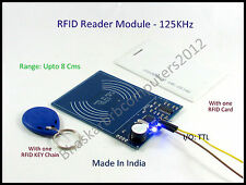 RFID Reader Module-TTL 125Khz 1 Card and 1 Key Chain,4 MaletoFemale jumper wire