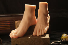 Flexible Soft Silicone Display Male Foot Mannequin