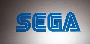 "SEGA Logo Vinyl Decal Sticker BLUE 4"""