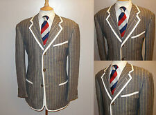SUPERB MENS 40 BLUE STRIPE BOATING REGATTA COLLEGE BLAZER SUIT JACKET SPORT COAT