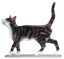 Whitehall Weathervane Striped Cat Alley Garden Stake