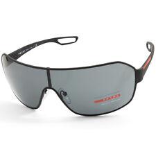 9f9cc1e090 Prada Linea Rossa PS 52QS DG01A1 Matte Black Rubber Grey Shield Sport  Sunglasses