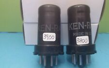 Matched Pair Ken Rad   6AC7  Metal Vacuum Tubes Tested New On Calibrated Hickok